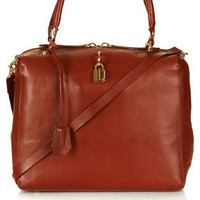 Large Leather Padlock Bag - Bags & Purses  - Bags & Accessories