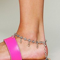 Metal Charm Anklet at Free People Clothing Boutique