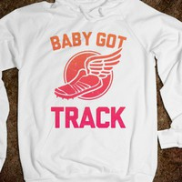 Baby Got Track ( Athletic Hoodie ) | Skreened.com