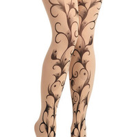 Unfurl Power Tights | Mod Retro Vintage Tights | ModCloth.com