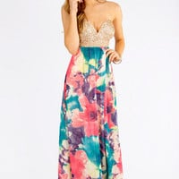 Reverse Monet Bustier Maxi Dress $75