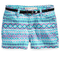 Epic Threads Kids Shorts, Girls Belted Aztec Shortie Shorts - Kids Girls 7-16 - Macy's