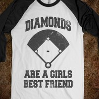 Diamonds Are A Girls Best Friend! Baseball Softball Shirt On Sale!