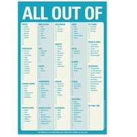 All Out of Note Pad - The Ultimate Grocery List Note Pad - Whimsical & Unique Gift Ideas for the Coolest Gift Givers