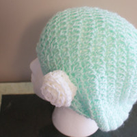 Green Crochet Hat, Womens Beret, Spring Tam, Spring Fashion Hat, Summer Hat, Crochet Beret, Spring Beanie, Lime Green Beanie, Womens Cap