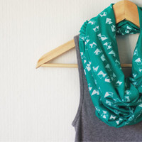 SCARF Screen Printed Infinity Scarf by littleminnowdesigns
