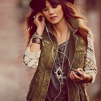 Free People Free People Follow Your Heart Cargo Jacket