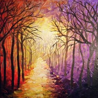 Road Back Home Acrylic Landscape Impasto  art by ArtFlutters