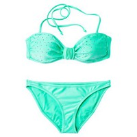 Xhilaration® Junior's 2-Piece Swimsuit w/ Studs -Mint