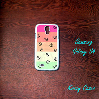 Samsung Galaxy S4 Case, Colorful Stripe with Nautical Anchor   Samsung Galaxy S4/S3 Phone case,  Samsung Galaxy S3 Cases