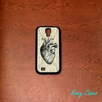 Samsung Galaxy S4  Case, Anatomy Heart text art Samsung Galaxy S3  case, Samsung Galaxy S3 Cases, Galaxy S4/ S3 case