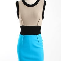 Yigal Azrouel Colorblock Knit Dress with Exposed Zipper yigal azrouel medium by Editors' Picks
