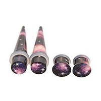 Morbid Metals Dark Galaxy Plug And Taper 4 Pack - 115778