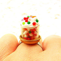 Kawaii Food Ring Colorful Candy Miniature Food by SouZouCreations