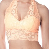 Heavenly Halter Glaze Bra from Beachwear at Lucky 21 Lucky 21
