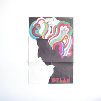 Iconic Original Vintage Bob Dylan Poster - Designed by Milton Glaser - 1966 - Postmodern - Museum of Modern Art Design Collection