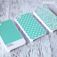 iPhone 4 Case for friendship triple version mint by BlissfulCASE