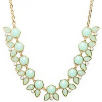 Petalview Necklace in Mint - ShopSosie.com