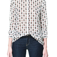 SKULL PRINT SHIRT - Shirts - TRF - ZARA United States