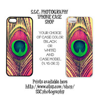 DISCONTINUING 5/6/13 Peacock Iphone Case. Iphone 4 case. 4s case. iphone 5 case. pink. green. teal. peacock feather. girly. abstract