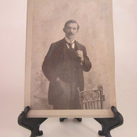 Cabinet Card, Victorian Gentleman Vintage 1800s  Esau Knox of Toronto, Dixon Photographer, Photograph