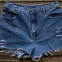 High Waisted New York Jean Shorts