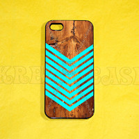 Iphone 5 Case, Geometric arrow on wood print iPhone 5 Cover, iPhone 5 Cases, Case for iPhone 5