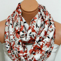 cinnamon flowers Infinity Scarfnomad by WomensScarvesTrend on Etsy