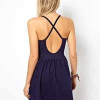 ASOS Skater Dress in Denim Look at asos.com