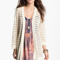 Rubbish® Open Weave Cardigan (Juniors) | Nordstrom