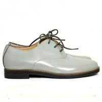 MM 6 Maison Martin Margiela - Leather Lace-Ups - Gray at Gargyle