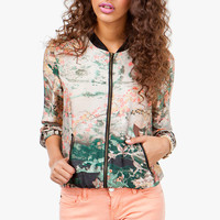 A&#x27;GACI ASIAN PRINT BOMBER JACKET - New Arrivals