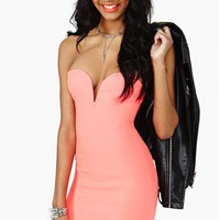 Helix Dress - Coral