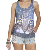 Cosmic Kitty Tank | Shop Tops at Wet Seal