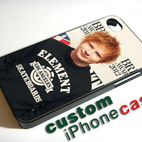 Ed Sheeran English Singer Cool Pose - Print Case iPhone 4/4s case Or iPhone 5 case - Black Or White Side Case (Option)