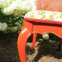 French Country Vintage Floral Accent Chair ELISE by lemonAIDER