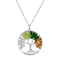 TREE OF LIFE NECKLACE - FOUR SEASONS | Silver, Pendant, Tree, Jewelry, Gemstones | UncommonGoods