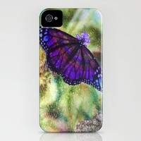 Butterfly in the Rain iPhone Case by vargamari | Society6