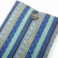 Gift For Him, Kimono Macbook Cover, Unique Gift Idea for him, Padded Laptop Sleeve,Japanese Cotton Fabric Traditional Patterns