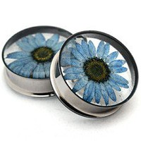 Embedded Chrysanthemum Flower Resin Plugs