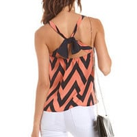 Bow-Back Chevron Stripe Tank: Charlotte Russe