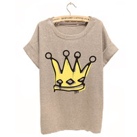 Big Royal Crown Watercolor T-shirt