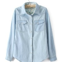 Vintage Light Blue Denim Shirts