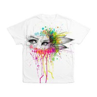 Flower Eyes Men's All Over Print T-Shirt> Apparel> Olechka Art and Design