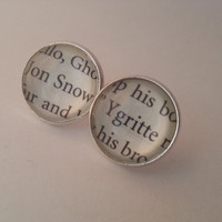 Game of Thrones Jon Snow and Ygritte Stud Post Earrings