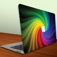 MacBook Rainbow Paint Swirl