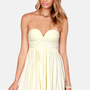 Tango on the Terrace Strapless Cream Lace Dress