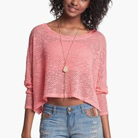 Painted Threads 'Hacci' Crop Pullover (Juniors) | Nordstrom