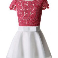 Crochet Organza Bow Dress