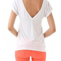 Feel The Piece V Back Tee | SHOPBOP